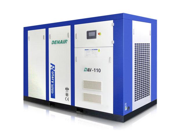 Винтовой маслосмазываемый компрессор DENAIR серии DVA с частотным преобразователем
